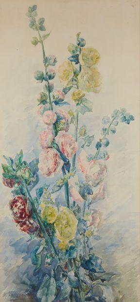 M. VALLANCIENNE (XXe siècle)  Bouquet  Aquarelle...