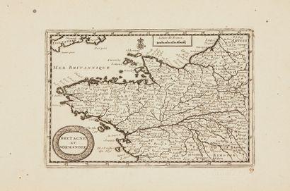 AA, P. van der Bretagne et Normandie. Leyde,...