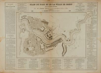 LOGEROT, A. / MAGADO, L. Plan du port et...