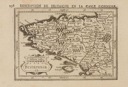 BERTIUS, P. / HONDIUS, J. Britannia. Amsterdam, 1616. Col. Bel exemplaire. 94 x...