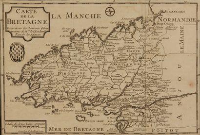 LEGRAS. Carte de la Bretagne Dressée… Paris,...