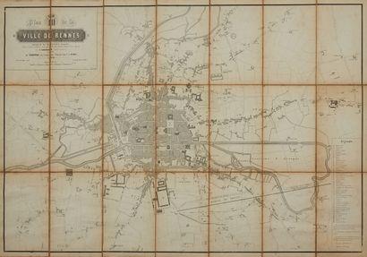 GABORIAUD / ANONYME. Plan de la ville de...