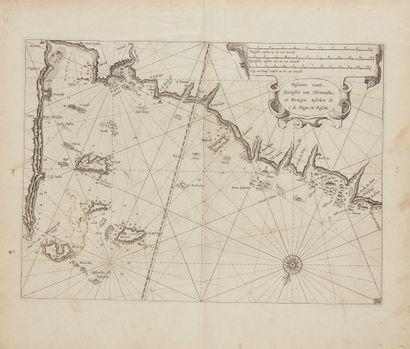 BLAEU, G. Pascaarte vande Zeecusten van Normandie...