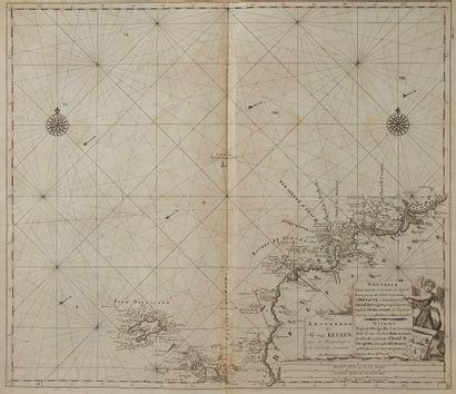 VAN KEULEN, G. Nouvelle carte marine…de Bretagne...