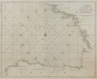 SELLER, J. A chart of the Bay of biscay from...
