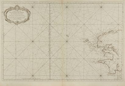BELLIN, J.N. Carte réduite des Passages de...