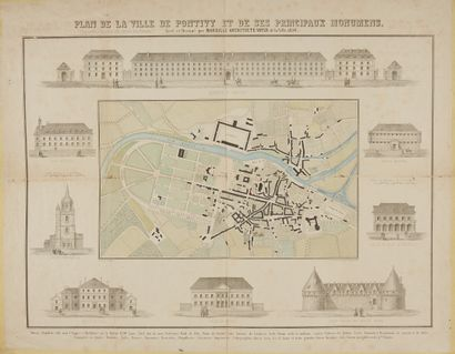 WALTER, Ch. Plan de la ville de Pontivy et...