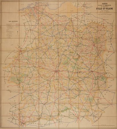 ANONYME. Carte des voies de communication...