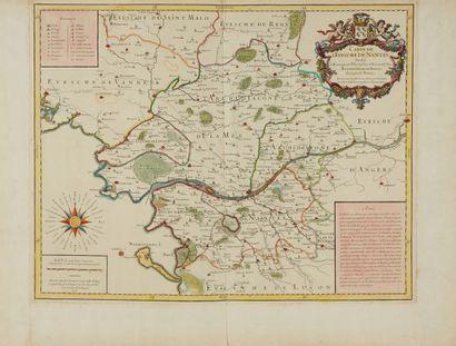 JAILLOT, A.H. Carte de L'Evesché de Nantes....