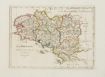BORGHI, B. La Bretagna. Florence, 1817. Limites...