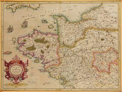 MERCATOR, G. Britannia Normandia cum confinib....