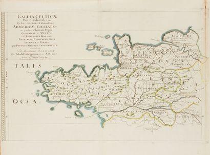 SANSON, N. Galliae Celticae. Paris, 1627....