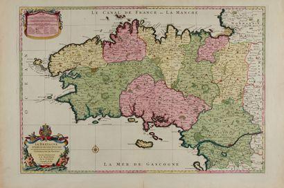 SANSON / JAILLOT / MORTIER. La Bretagne divisée...