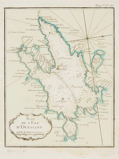 BELLIN, J.N. Coste de Bretagne depuis l'isle...
