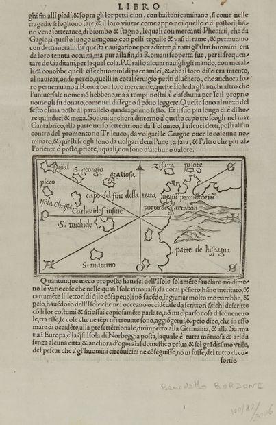 BORDONE, B. [Parte de la Bertagna]. Venise, 1528/1547. Noir et blanc. Gravure sur...