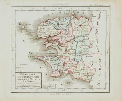 DIVERS. Lot de cartes des départements bretons...