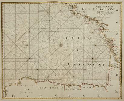 MORTIER, P. Carte du Golfe de Gascogne Contenant...