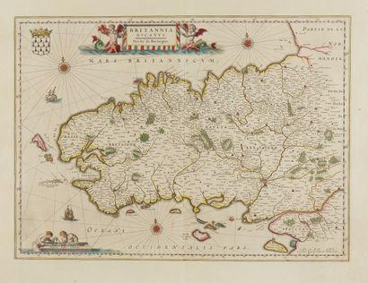 BLAEU, G. Britannia Ducatus. Duché de Bretaigne....