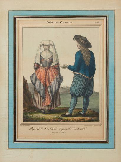 CHARPENTIER, Henri. Femme de Dinard / Paysans...