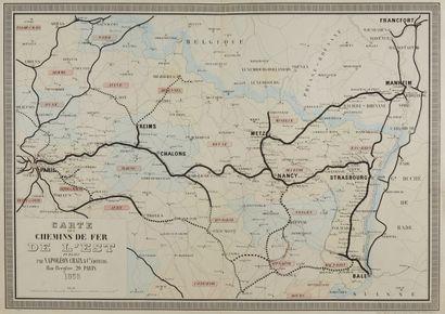 ETAT-MAJOR. Carte de la ligne de Nantes à...