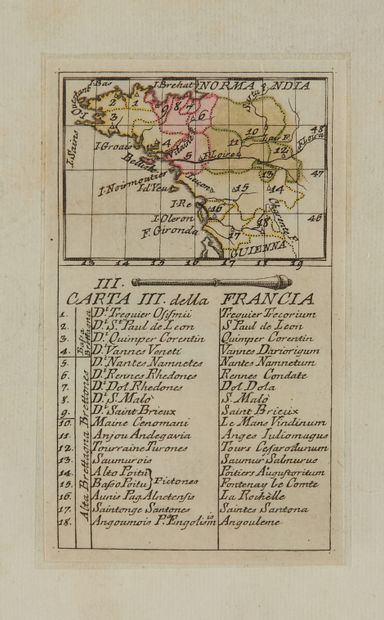LAMBERTI, A. Carta III. Della Francia. (Bretagne...
