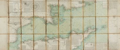 BEAURAIN, le Chevalier de. Carte de la Manche...