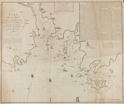 CORNIC, Charles. Plan de la baie de Morlaix....