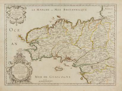 SANSON, N. Duché et gouvernement de Bretagne....