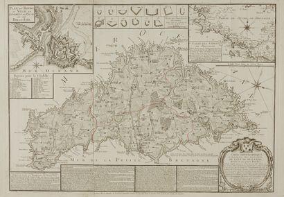 BEAURAIN, le Chevalier de. Carte topographique...