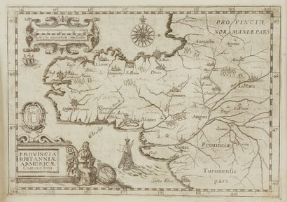 GUCHEN, (Maximin) de. Provincia Britanniae Armoricae Cum confiniis. Rome, 1643....