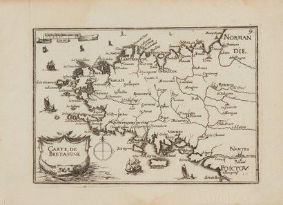 TASSIN, Christophe. Carte de Bretagne. Paris,...