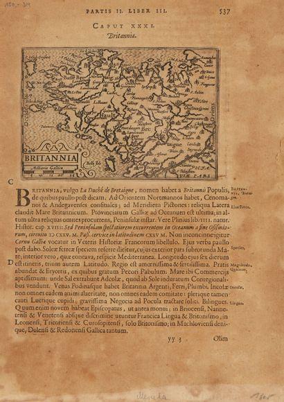 MERULA, P. Britannia. Leyde, 1605. Noir et...