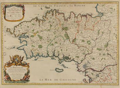 JAILLOT, A.H. La Bretagne divisée en ses...