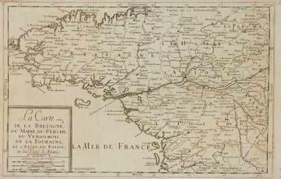 MAUGEIN / ROUSSEL… Carte de la Bretagne,...