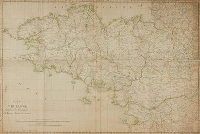 ANONYME. Carte de Bretagne dressée sur les...