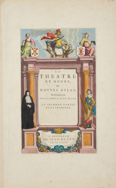 DIVERS. Ensemble d'environ 100 frontispices d'atlas. 1570-1800. 23 frontispices...