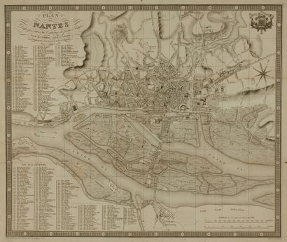 JOUANNE. Plan de Nantes. Forest, 1845. Noir...