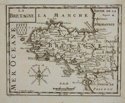ANONYME. (Bretagne). Ca. 1590-1600. Noir et blanc. Partie d'une carte plus importante....