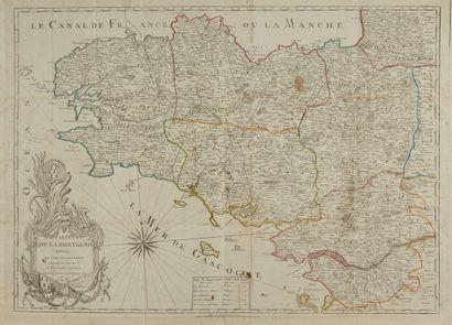 JEAN. Carte de la Bretagne divisée en cinq...