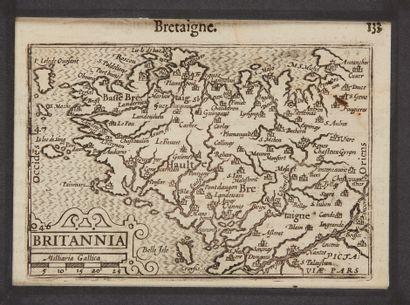 BERTIUS, P. Britannia. Amsterdam, 1602. Noir...