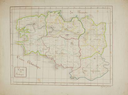GUEROULT, Angélina. Carte de Bretagne. Ca....