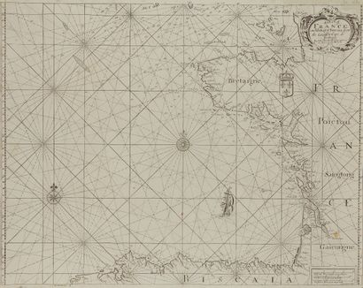 THORNTON, J. A Chart of France and the Bay...
