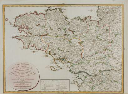 DEZAUCHE, J. A. Carte itinéraire de la Bretagne....