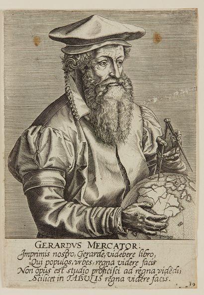 DIVERS. Lot de portraits de géographes. XVIe...