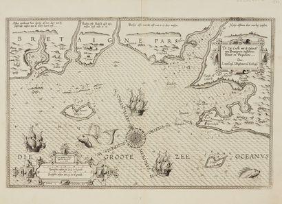 WAGHENAER, L. J. De Zee Custe, met de Englande van Bretaignen, tuschenn Blavet en...