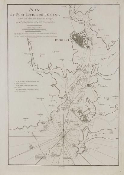 D'APRES DE MANNEVILLETTE. Plan du Port-Louis...