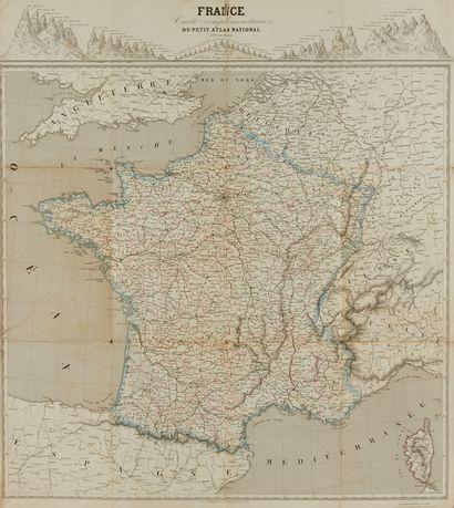 CASSINI DE THURY, C .F. Nouvelle carte qui comprend les principaux triangles qui...