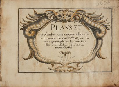 TASSIN, Christophe. Plans et profilz des principales villes de la province de Bretaigne....