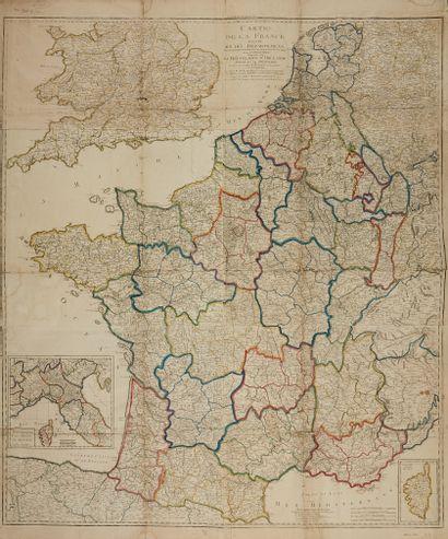 BONISEL, J. G. Carte de la France divisée...