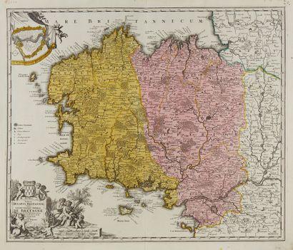 HOMANN, J. B. Tabula Ducatus Britanniae Gallis...